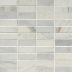 "Marble Tile Collection Arabescato Carrara 1""x3"" In 12""x12"" Mesh - FloorLife"