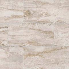 "Pietra Porcelain Tile Collection Bernini Bianco - 3""x18"" Bullnose - FloorLife"