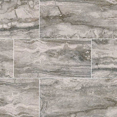 "Pietra Porcelain Tile Collection Bernini Carbone - 3""x18"" Bullnose - FloorLife"