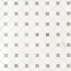 Marble Tile Collection Bianco Dolomite Dotty - FloorLife
