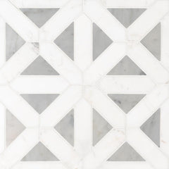 Marble Tile Collection Bianco Dolomite Geometrica - FloorLife