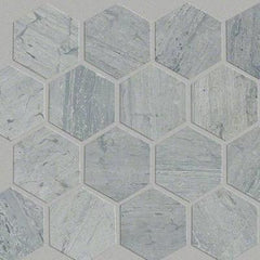 Shaw Tile Chateau Hexagon Blue Grigio 10x12