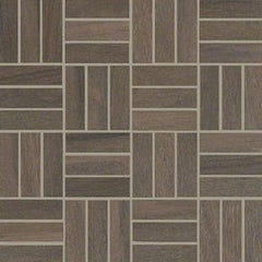 "Shaw Tile Voyage Brown Mosaic 12""x12"""