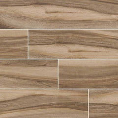 "Aspenwood Porcelain Tile Collection Café - 9""x48"" - FloorLife"