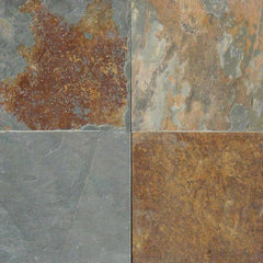 "Slate Tile Collection California Gold 16""x16"" - FloorLife"