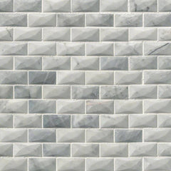"Marble Tile Collection Carrara White 1""x2"" 3D - FloorLife"