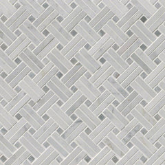 Marble Tile Collection Carrara White Basketweave Pattern - FloorLife