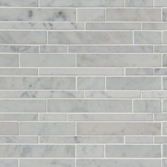 Marble Tile Collection Carrara White RSP Interlocking Pattern - FloorLife