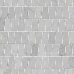 Marble Tile Collection Carrara White Trapezoid Pattern - FloorLife