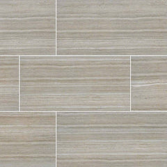 "Essentials Ceramic Tile Collection Charisma Silver - 3""x18"" - Bull Nose"