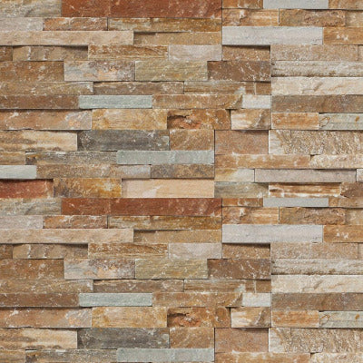 Ledgestone Panels - Mountain Rust