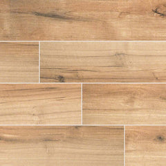 "Palmetto Porcelain Tile Collection Cognac- 6""x36"" - FloorLife"