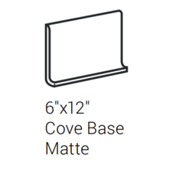 "Interceramic Cortina Rectified Juno White Cove Base Matte 6""x12"""
