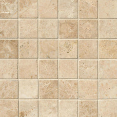 "Marble Tile Collection Crema Cappuccino 2""x2"" - FloorLife"