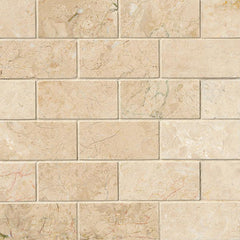 "Marble Tile Collection Crema Cappuccino 2""x4"" - FloorLife"