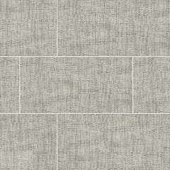 "Tektile Porcelain Tile Collection Crosshatch Gray 12""x24"" - FloorLife"