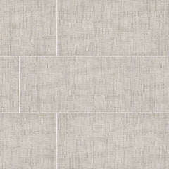 "Tektile Porcelain Tile Collection 12""x24"" - Crosshatch Ivory - FloorLife"