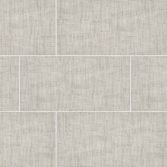 "Tektile Porcelain Tile Collection Crosshatch Ivory 12""x24"" - FloorLife"