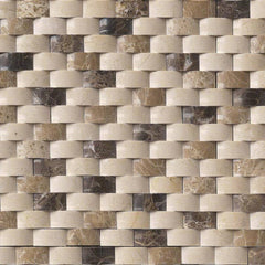 Marble Tile Collection Emperador Blend Arched Brick Pattern - FloorLife