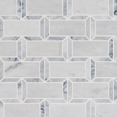 "Marble Tile Collection Arabescato Carrara Framework 2""x4"" - FloorLife"