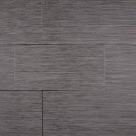 "Focus Porcelain Tile Collection Graphite - 3""x18"" Bullnose"