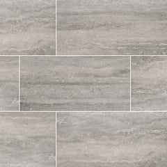 "Veneto Porcelain Tile Collection Gray - 3""x24"" Bullnose - FloorLife"