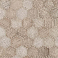 "Marble Tile Collection Honey Comb 2"" Hexagon Multi Finish - FloorLife"