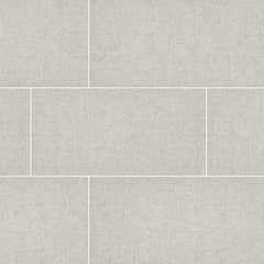"Tektile Porcelain Tile Collection 12""x24"" - Hopsack Ivory - FloorLife"