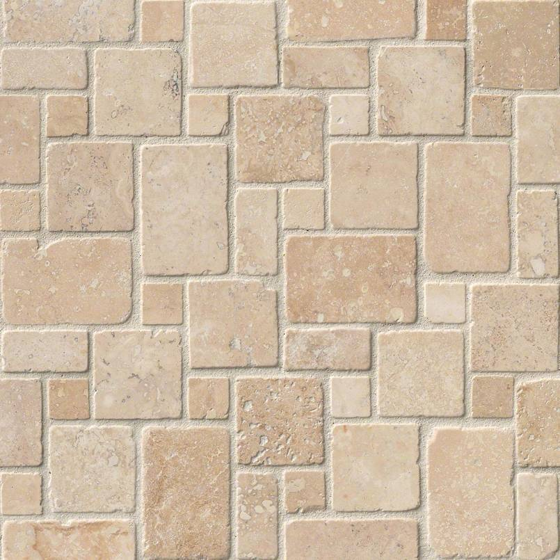 Travertine Tile Collection Tuscany Ivory Mini Versailles Pattern In Inspiration Versaille Pattern