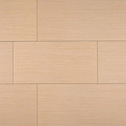 "Focus Porcelain Tile Collection Khaki - 3""x18"" Bullnose"