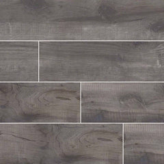 "Country River Porcelain Collection Mist - 8""x48"" Plank - FloorLife"