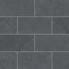 "Slate Tile Collection Montauk Black 3""x6"" - FloorLife"