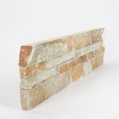 "Realstone Systems Ledgestone Mountain Rust Splitface End 6""x24"""