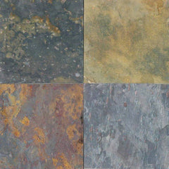 "Slate Tile Collection Multi Classic 16""x16"" - FloorLife"
