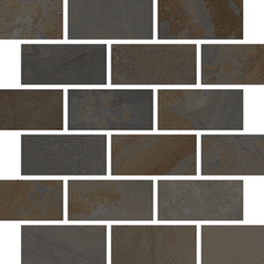 "Interceramic Encierro Nemesis Mosaic Bricklay 11 1/2""x11 1/2"""