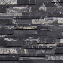 "Realstone Systems Collection Nero Honed Panel 6""x24"""
