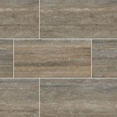 "Veneto Porcelain Tile Collection Noce - 3""x18"" Bullnose - FloorLife"