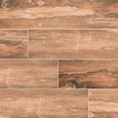 "Salvage Porcelain Tile Collection Red Wood - 6""x40"" Plank - FloorLife"