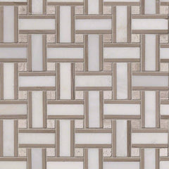 Marble Tile Collection Arabescato Carrara Renaissance Basketweave - FloorLife