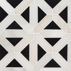 Marble Tile Collection Arabescato Carrara Retro Fretwork - FloorLife