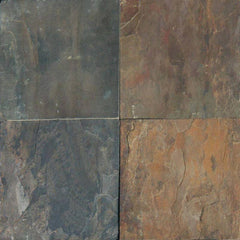"Slate Tile Collection Rustic Gold 12""x12"" - FloorLife"