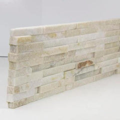 "Realstone Systems Thinstone Silver Alabaster Shadow Natural End 6""x24"""