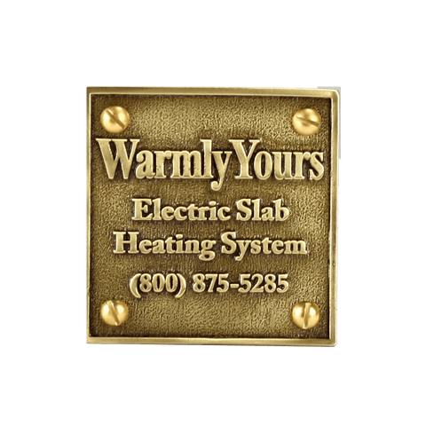 Warmly Yours Snow Melt Plaque (NEC Requirement)