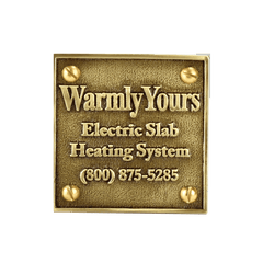 Warmly Yours Snow Melt Plaque (NEC Requirement) - FloorLife