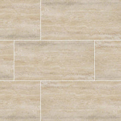 "Veneto Porcelain Tile Collection Sand - 3""x24"" Bullnose - FloorLife"