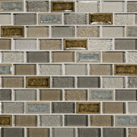 Daltile Crystal Shores Sapphire Lagoon Brick Joint