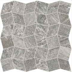 "Interceramic Quartzite Silver Polygon Mosaic 11""x11"""