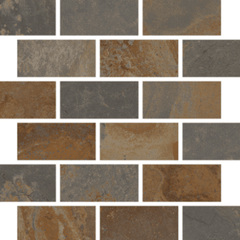 "Interceramic Encierro Telesto Mosaic Bricklay 11 1/2""x11 1/2"""