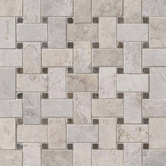 Marble Tile Collection Tundra Gray Basketweave Pattern - FloorLife