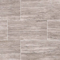"Pietra Porcelain Collection Venata Gray - 3""x18"" Bullnose - FloorLife"